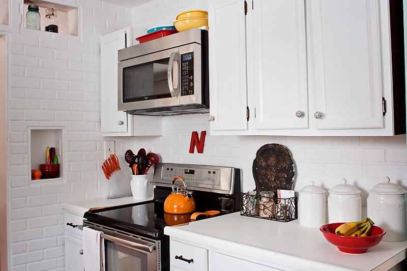 You Can Also See Above How We Replaced The Old Cabinet And Stove Hood With  A New Microwave ...